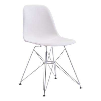 Zip White Dining Chair