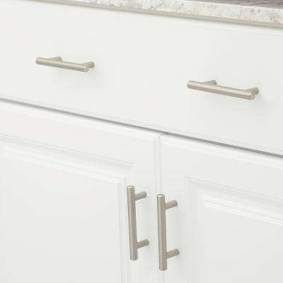 Contemporary 3 in. (76.2 mm) Center-to-Center Brushed Nickel Cabinet Pull