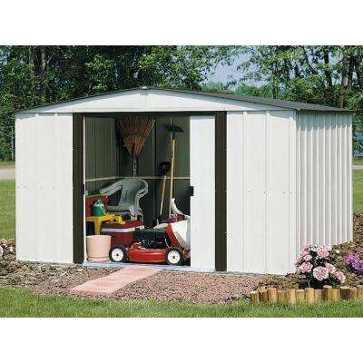 Newburgh 10 ft. W x 8 ft. D 2-Tone White Galvanized Metal Storage Building