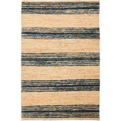 Bohemian Natural/Blue 4 ft. x 6 ft. Area Rug