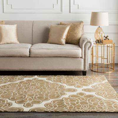 Candice Olson Cream 3 ft. x 8 ft. Runner Rug