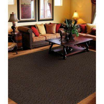 Ivy Chocolate 12 ft. x 12 ft. Square Area Rug