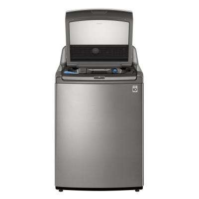 27 in. 4.8 cu. ft. Mega Capacity Graphite Steel Top Load Washer, Agitator, with TurboWash3D and Wi-Fi Connectivity