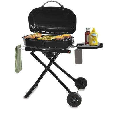 1-Burner Portable Folding LP Gas Gas Grill in Green with Push-Button Ignition