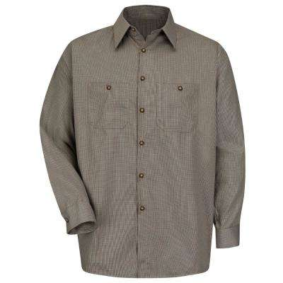 Men's Micro-Check Uniform Shirt
