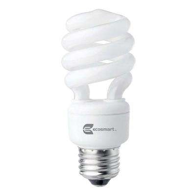 60W Equivalent Daylight Spiral Double Life CFL Light Bulb (4-Pack)