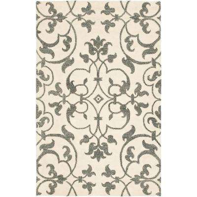 Soho Ivory/Grey 3 ft. 6 in. x 5 ft. 6 in. Area Rug