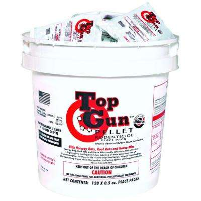 Top Gun Pellet Pack Rodenticide with Stop-Feed Action and Bitrex for Mice and Rats (128-Pack)