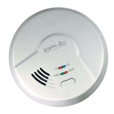 AC Hardwired Iophic Smoke/Fire Carbon Monoxide and Natural Gas Alarm with Battery Backup