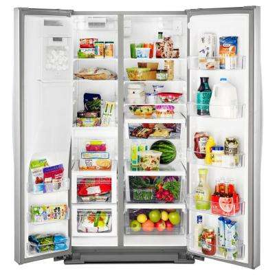 28 cu. ft. Side by Side Refrigerator in Fingerprint Resistant Stainless Steel