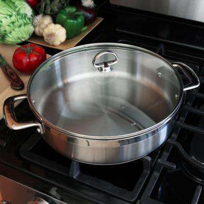 Induction 21 5 Qt. Stainless Steel Saute Pan