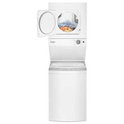 1.6 cu. ft. Stacked Washer and Electric Dryer with 6 Wash Cycles and Wrinkle Shield in White