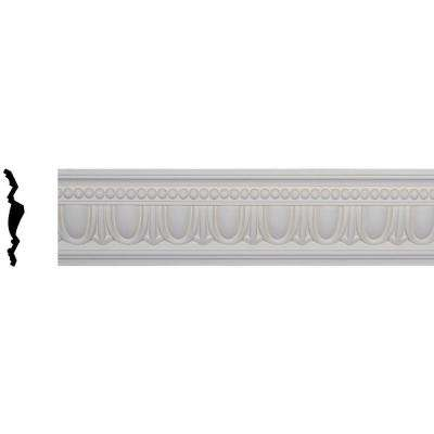 5 in. x 7-1/4 in. x 96-1/8 in. Polyurethane Egg and Dart Crown Moulding