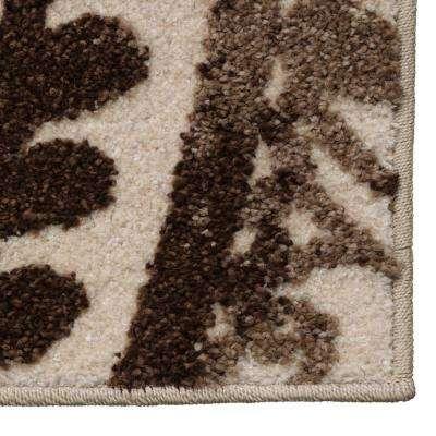 Spiral Medallion Ivory/Brown 8 ft. x 10 ft. Area Rug