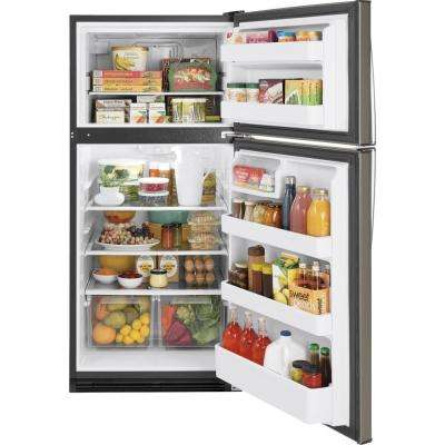 18.2 cu. ft. Top Freezer Refrigerator in Slate, Fingerprint Resistant