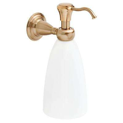Victorian Wall-Mounted Soap Dispenser in Champagne Bronze