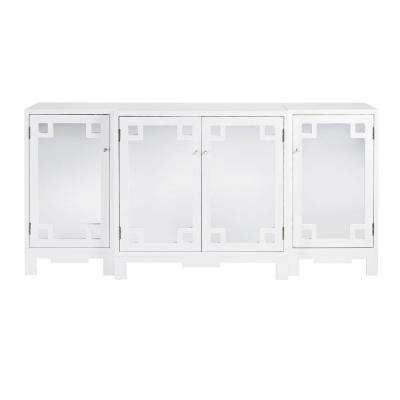 Reflections White Set of 3 Westport Cabinet