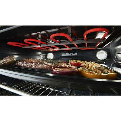 6.4 cu. ft. Slide-In Electric Range in Black Stainless