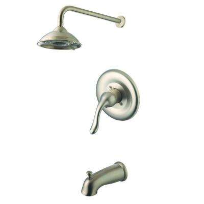 Single-Handle 2-Spray Tub and Shower Faucet in Brushed Nickel