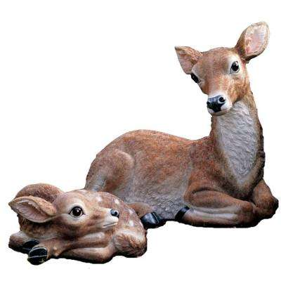 14-1/2 in. Mother Doe and 4-1/2 in. Fawn Statues-DISCONTINUED