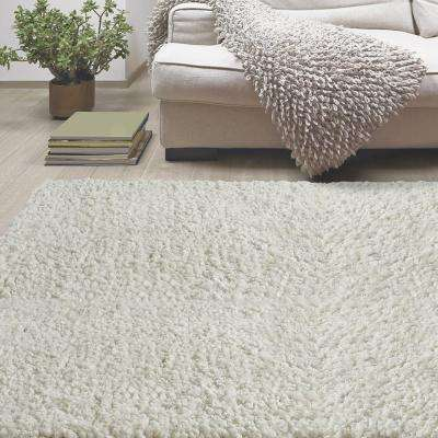 Palazzo Shag White 9 ft. x 12 ft. Area Rug