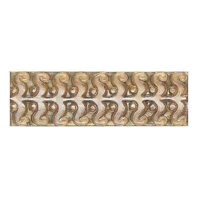 Cristallo Glass Smoky Topaz 3 in. x 8 in. Glass Perennial Accent Wall Tile
