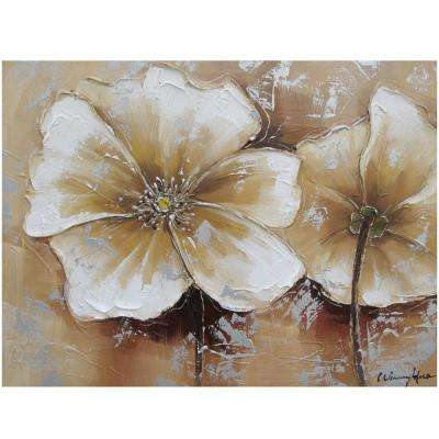 "24 in. x 31 in. ""Full Bloom II"" Hand Painted Canvas Wall Art"