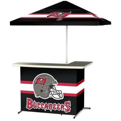 Tampa Bay Buccaneers All-Weather L-Shaped Patio Bar with 6 ft. Umbrella