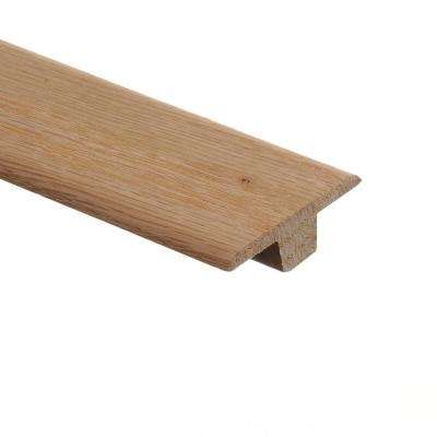 Unfinished Red Oak 3/8 in. Thick x 1-3/4 in. Wide x 94 in. Length Wood T-Molding