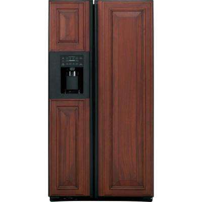 23.4 cu. ft. Side by Side Refrigerator in Black, Counter Depth