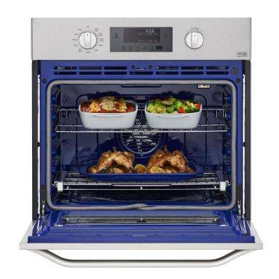 30 in. Single Electric Wall Oven Self-Cleaning with Convection and EasyClean in Stainless Steel