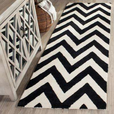 Cambridge Black/Ivory 3 ft. x 10 ft. Runner Rug