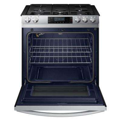 30 in. 5.8 cu. ft. Slide-In Gas Range with Self-Cleaning Oven in Stainless Steel