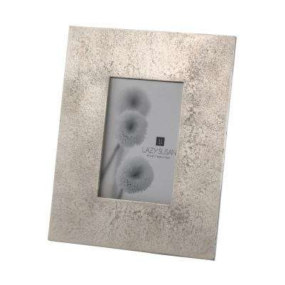 Silver Cement 1-Opening 4 in. x 6 in. Aluminum With Nickel Plating Picture Frame