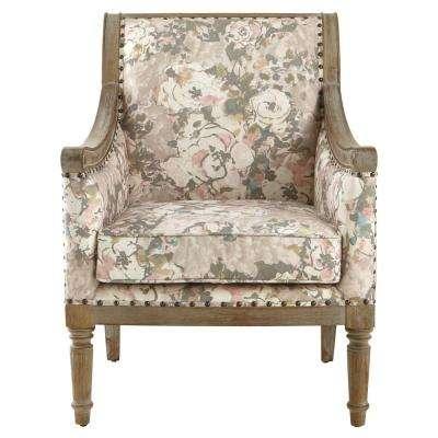 Lucie Primrose Blush Rolled Back Upholstered Accent Chair - Accent Chairs - Chairs - Living Room Furniture - Furniture - Decor
