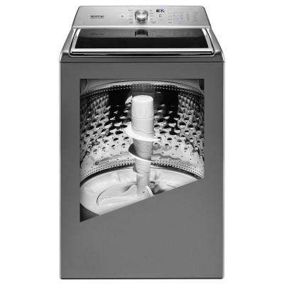 5.2 cu. ft. Top Load Washer with the Deep Fill Option and Power Wash Cycle in Metallic Slate