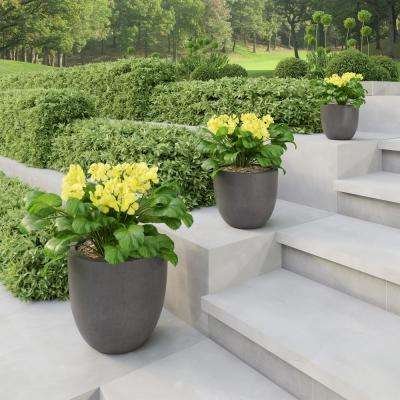 Gray Fiber Clay Tapered Planters (3-Pack)