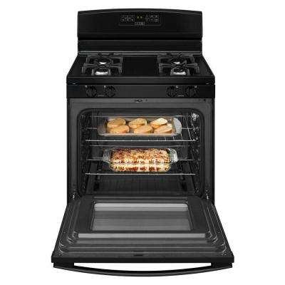 30 in. 5.0 cu. ft. Gas Range in Black