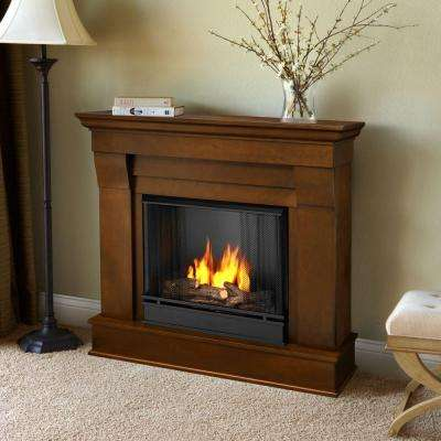Chateau 41 in. Ventless Gel Fuel Fireplace in Espresso
