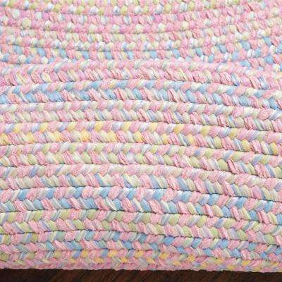 Seabrook Chenille 10 ft. x 13 ft. Pink Braided Area Rug