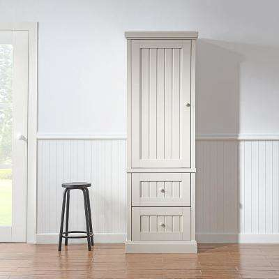 Seal Harbor Assembled 26 x 78 x 20 in. Pantry/Utility Narrow with Wooden Doors in Sharky Grey