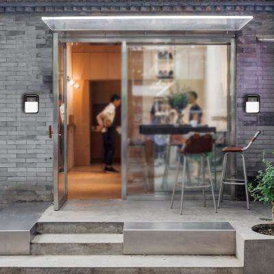Slim-Profile Bronze Outdoor Integrated LED Wall Pack Light