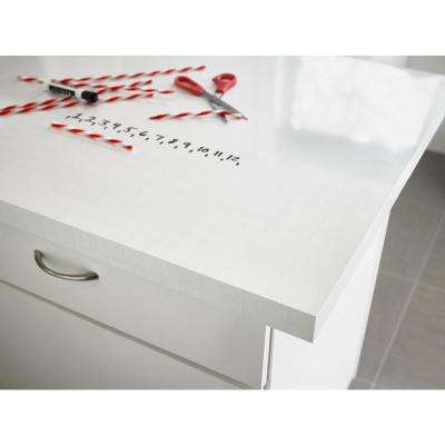5 in. x 7 in. Laminate Countertop Sample in Writable Surface in ImagiGrid with Gloss Finish