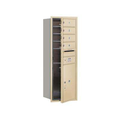 3700 Series 41 in. 11 Door High Unit Sandstone Private Front Loading 4C Horizontal Mailbox with 4 MB1 Doors/1 PL5