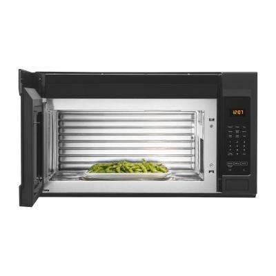 1.9 cu. ft. Over the Range Microwave with Stainless Steel Cavity in Cast Iron Black