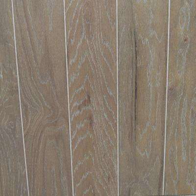 Take Home Sample - Oak Driftwood Wire Brushed Engineered Hardwood Flooring - 5 in. x 7 in.