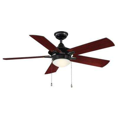Edgemont 52 in. LED Indoor Glossy Black Ceiling Fan with Light Kit