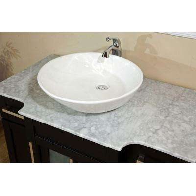 Trento II 40 in. Single Vanity in Dark Mahogany with Marble Vanity Top in White