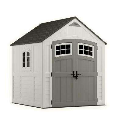 Cascade 7 ft. 3 in. x 7 ft. 4.5 in. Resin Storage Shed