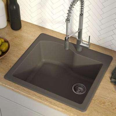 Granite Quartz Composite Brown Undermount Kitchen
